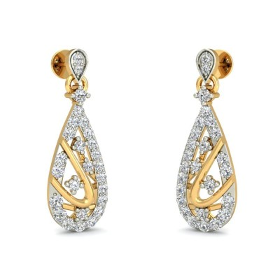 SOHNI DIAMOND DROPS EARRINGS in 18K Gold