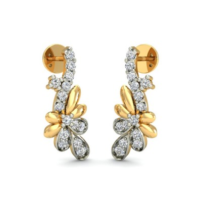VIOLETA DIAMOND DROPS EARRINGS in 18K Gold