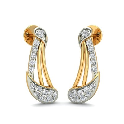 ZURI DIAMOND STUDS EARRINGS in 18K Gold