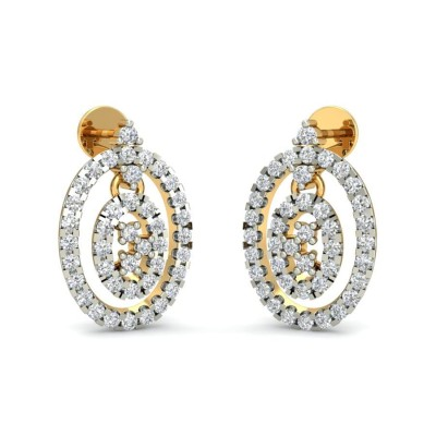 CAILEY DIAMOND DROPS EARRINGS in 18K Gold