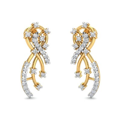 SHEOLI DIAMOND STUDS EARRINGS in 18K Gold