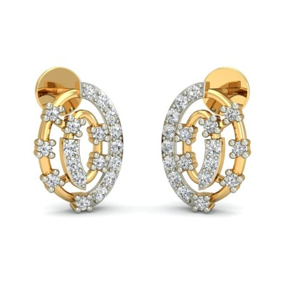 ASHU DIAMOND STUDS EARRINGS in 18K Gold