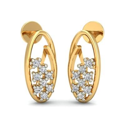 ROBYN DIAMOND STUDS EARRINGS in 18K Gold