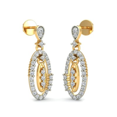 ALAYA DIAMOND DROPS EARRINGS in 18K Gold