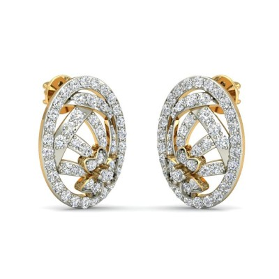 SNEH DIAMOND STUDS EARRINGS in 18K Gold