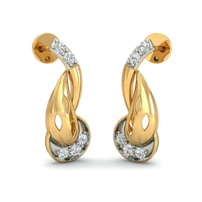 JASMINE DIAMOND STUDS EARRINGS in 18K Gold