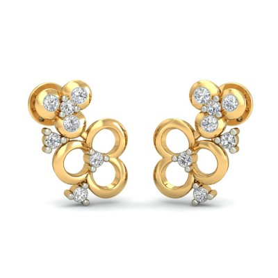 AVANI DIAMOND STUDS EARRINGS in 18K Gold