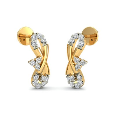 LUCIA DIAMOND STUDS EARRINGS in 18K Gold