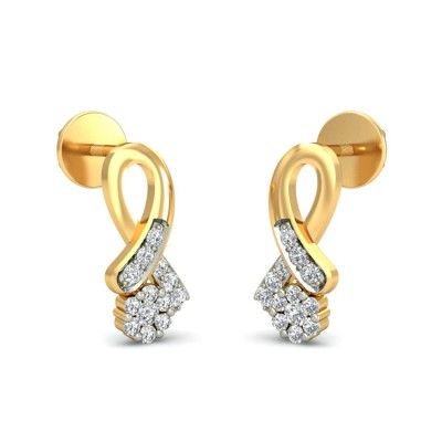 BRITI DIAMOND STUDS EARRINGS in 18K Gold