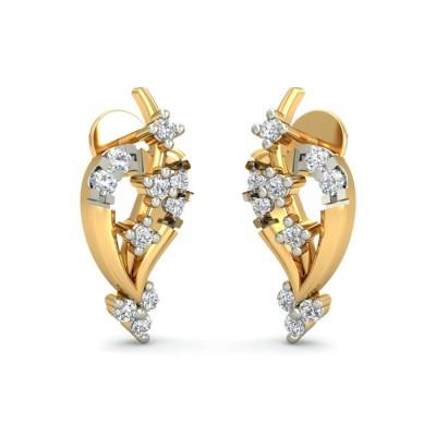 ALIYA DIAMOND STUDS EARRINGS in 18K Gold