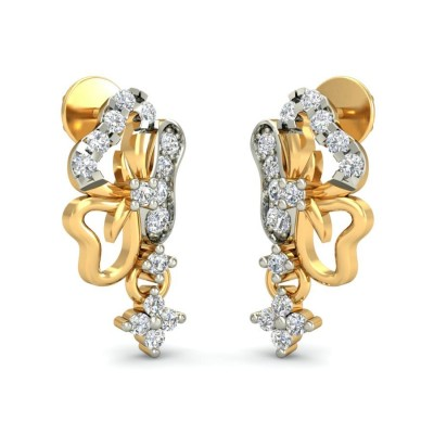 PUNAM DIAMOND DROPS EARRINGS in 18K Gold