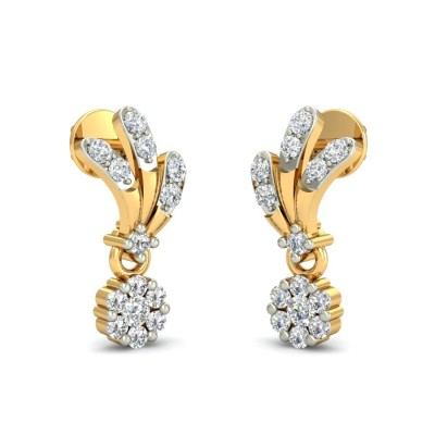 TARLI DIAMOND DROPS EARRINGS in 18K Gold