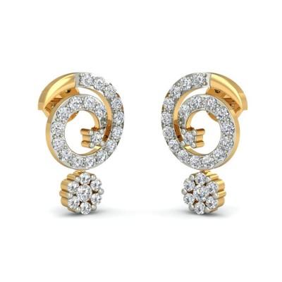 ANSUYA DIAMOND STUDS EARRINGS in 18K Gold