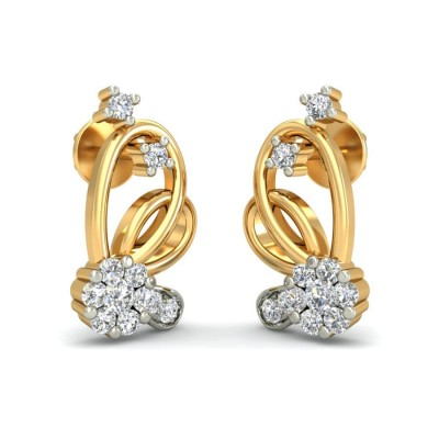 TATINI DIAMOND STUDS EARRINGS in 18K Gold