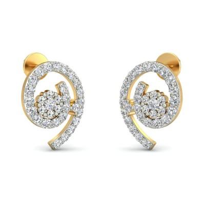 PARNAVI DIAMOND STUDS EARRINGS in 18K Gold