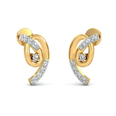 RAJIKA DIAMOND STUDS EARRINGS in 18K Gold