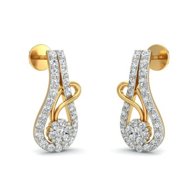 MARIAM DIAMOND STUDS EARRINGS in 18K Gold