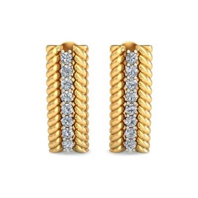 ROSALYN DIAMOND STUDS EARRINGS in 18K Gold