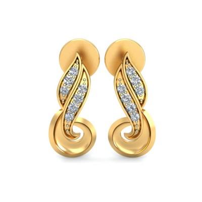 PARVANI DIAMOND STUDS EARRINGS in 18K Gold