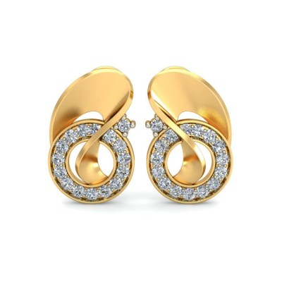 ARLENE DIAMOND STUDS EARRINGS in 18K Gold