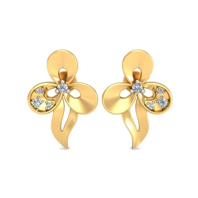 AMITI DIAMOND STUDS EARRINGS in 18K Gold