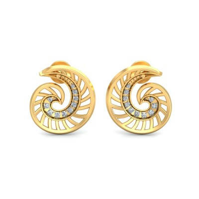 MANYA DIAMOND STUDS EARRINGS in 18K Gold