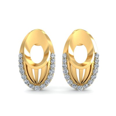 BRINDA DIAMOND STUDS EARRINGS in 18K Gold