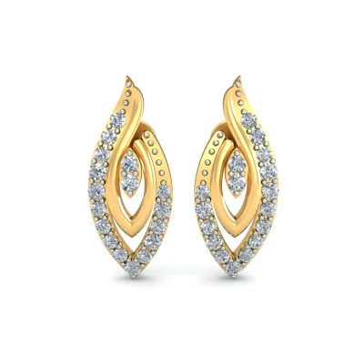 BECKY DIAMOND STUDS EARRINGS in 18K Gold