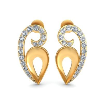 CAMERON DIAMOND STUDS EARRINGS in 18K Gold