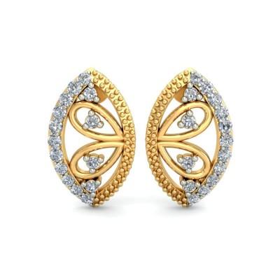 MARIELA DIAMOND STUDS EARRINGS in 18K Gold