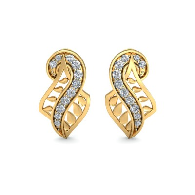 ALYSON DIAMOND STUDS EARRINGS in 18K Gold