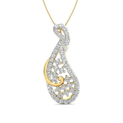 ACHALA DIAMOND FASHION PENDANT in 18K Gold