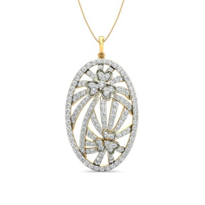 STEFANY DIAMOND FASHION PENDANT in 18K Gold