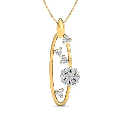 SHAIVI DIAMOND FASHION PENDANT in 18K Gold
