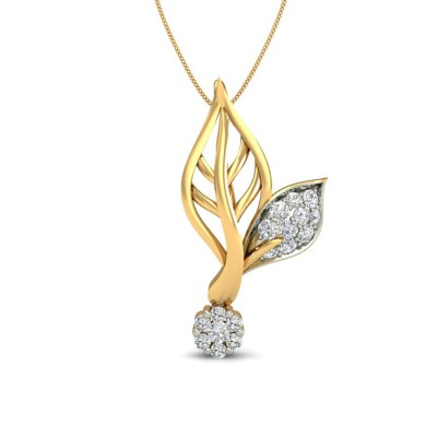 CHANDAN DIAMOND FLORAL PENDANT in 18K Gold