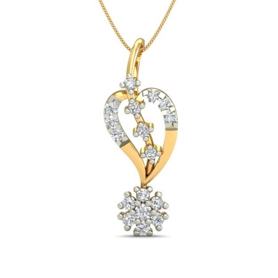 MANANA DIAMOND HEARTS PENDANT in 18K Gold