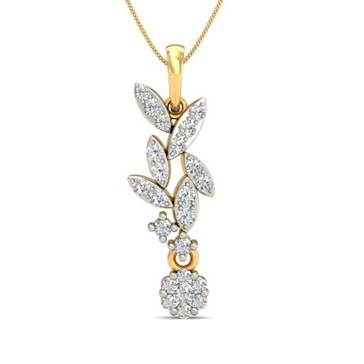 VANINI DIAMOND FLORAL PENDANT in 18K Gold