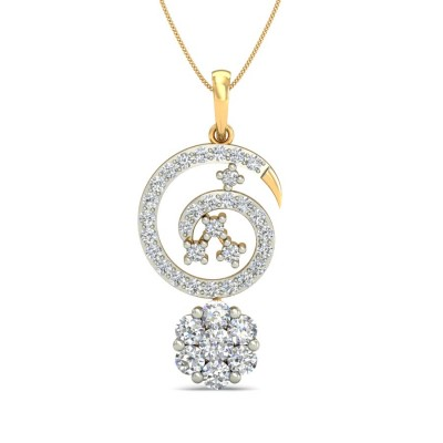 MAE DIAMOND FASHION PENDANT in 18K Gold