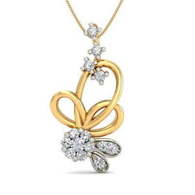 ALISA DIAMOND FLORAL PENDANT in 18K Gold