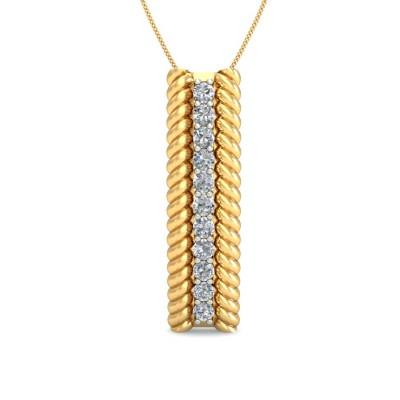 MICAELA DIAMOND FASHION PENDANT in 18K Gold