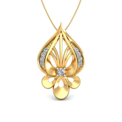 DEVINA DIAMOND FLORAL PENDANT in 18K Gold