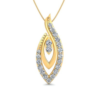 CLOVER DIAMOND FASHION PENDANT in 18K Gold