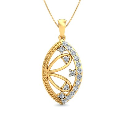AIDA DIAMOND FLORAL PENDANT in 18K Gold