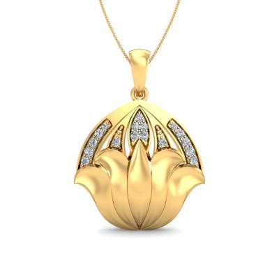 BELINDA DIAMOND FLORAL PENDANT in 18K Gold