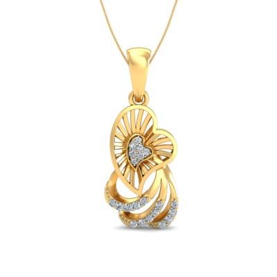 RITA DIAMOND HEARTS PENDANT in 18K Gold