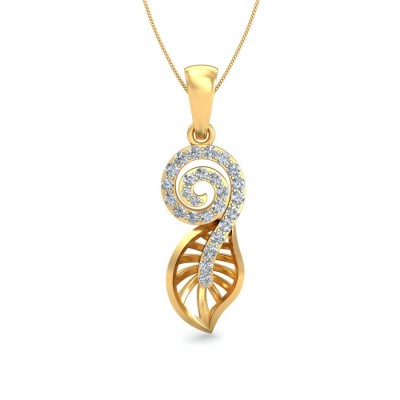 ANIYA DIAMOND FLORAL PENDANT in 18K Gold