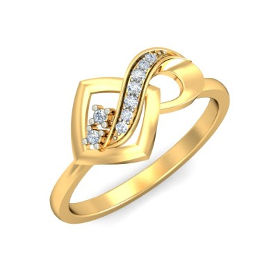 NICOLE DIAMOND CASUAL RING in 18K Gold