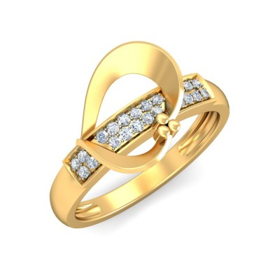 DREW DIAMOND CASUAL RING in 18K Gold