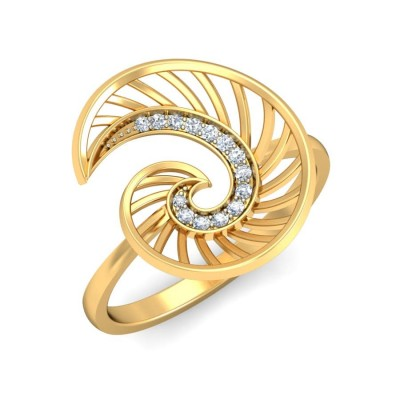 MRUNMAI DIAMOND COCKTAIL RING in 18K Gold