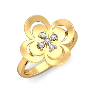 AYAH DIAMOND COCKTAIL RING in 18K Gold